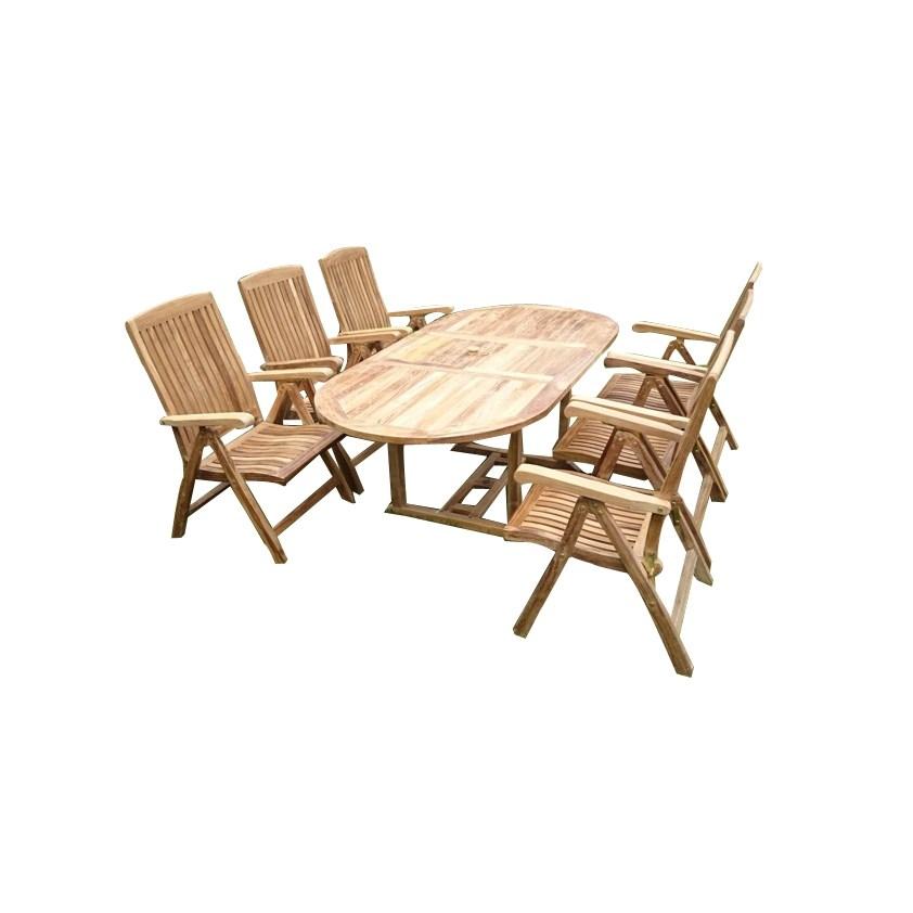 7-dielny set záhradného nábytku Alfi II, teak