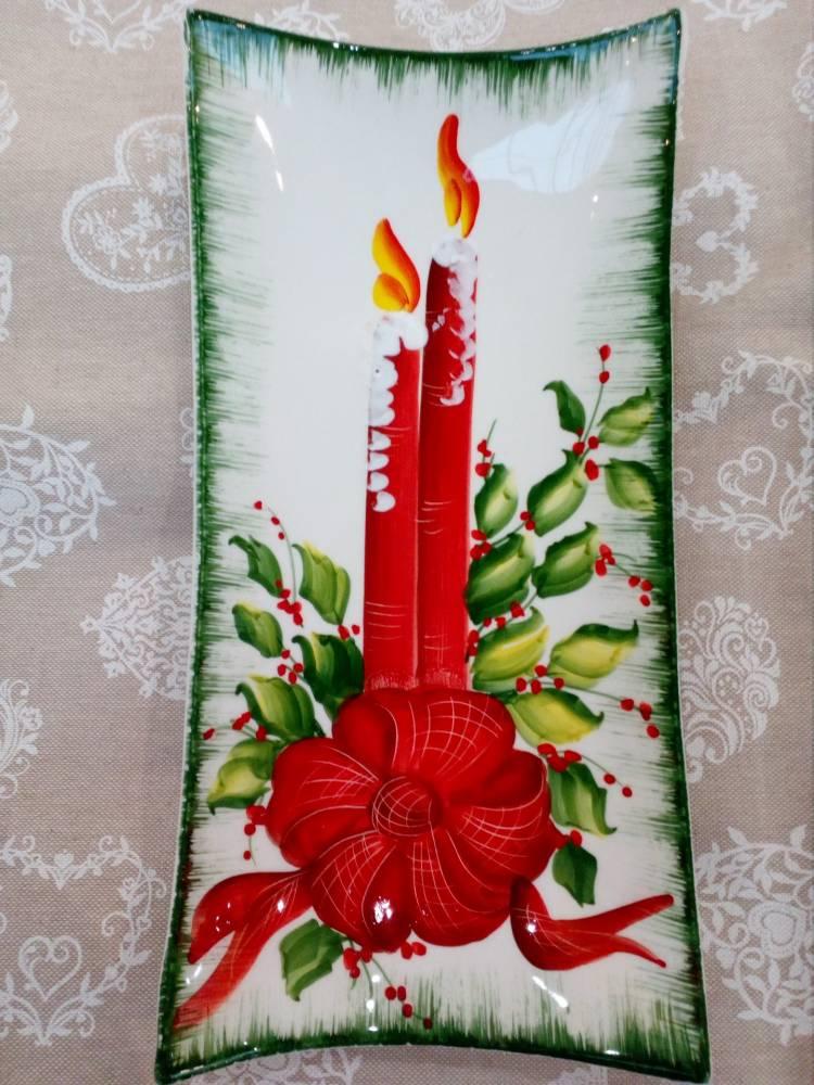 Vianočný tanier SVIEČKA 1606  BR