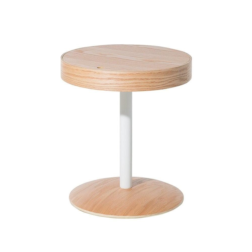 Odkladací stolík v dekore svetlého dreva Monobeli Starlie, ø 40 cm