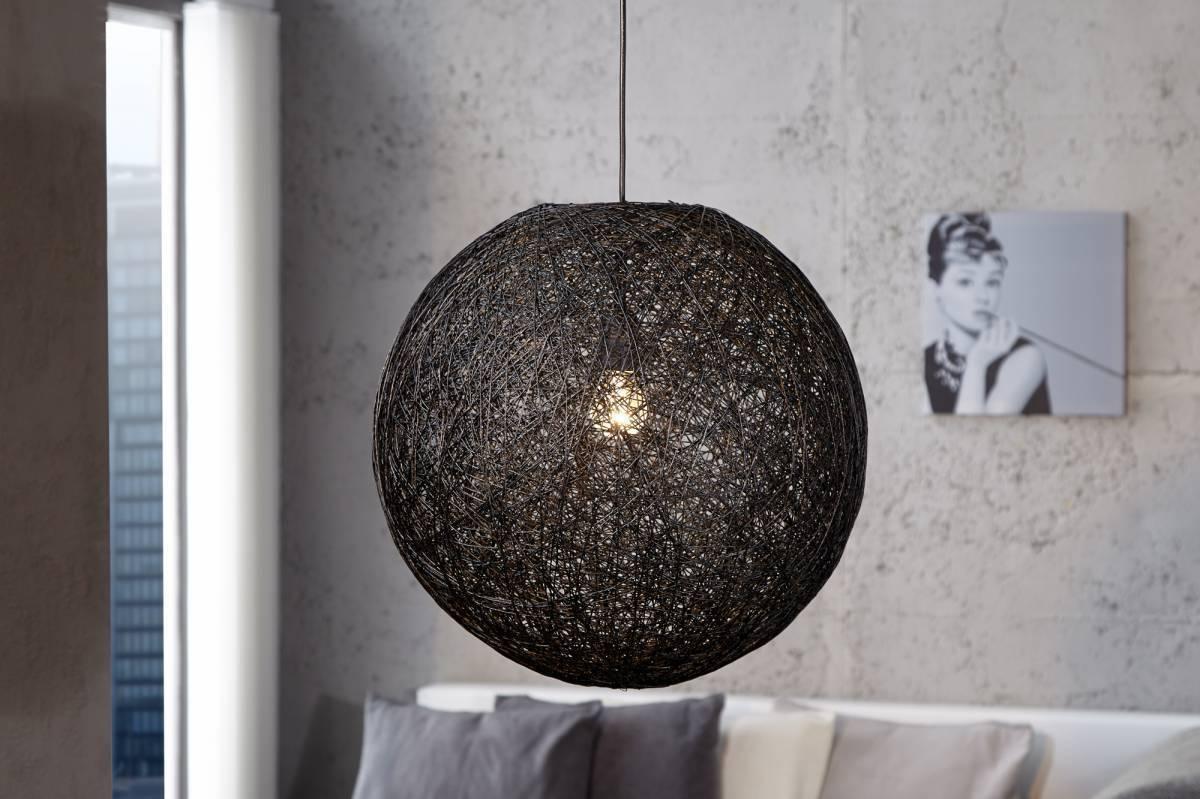 Závesná lampa COCOON M - čierna