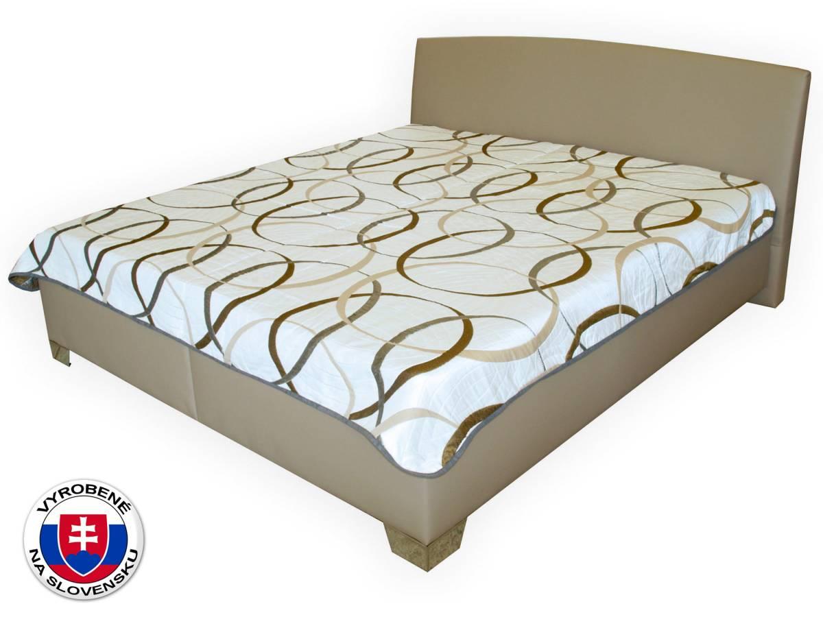 Manželská posteľ 180 cm Benab Tamira (hnedá) (s roštami a prehozom)