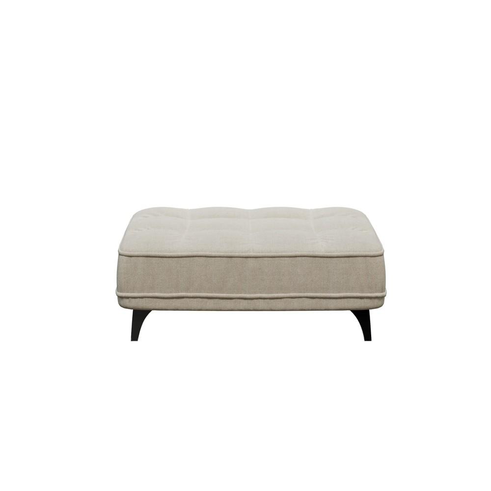 Svetlobéžová podnožka devichy Chloe, 106 × 84 cm