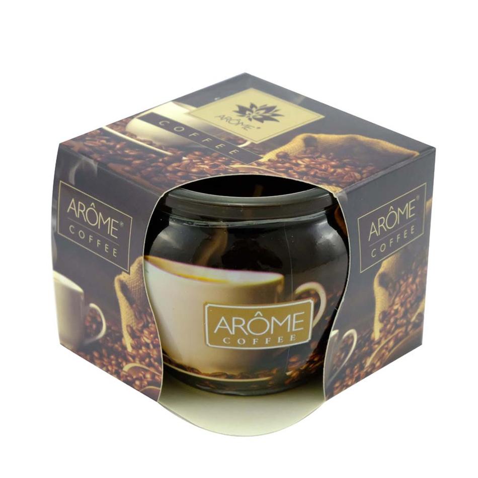 Arome Vonná sviečka v skle Coffee, 85 g