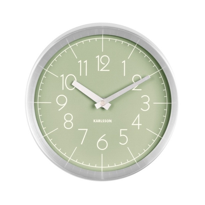 Zelené nástenné hodiny ETH Convex