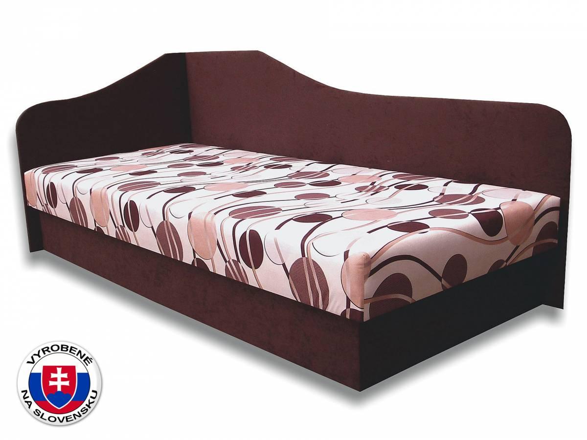 Jednolôžková posteľ (váľanda) 80 cm Lux 87 (Tmavohnedá 40 + Ikarus 20) (L)