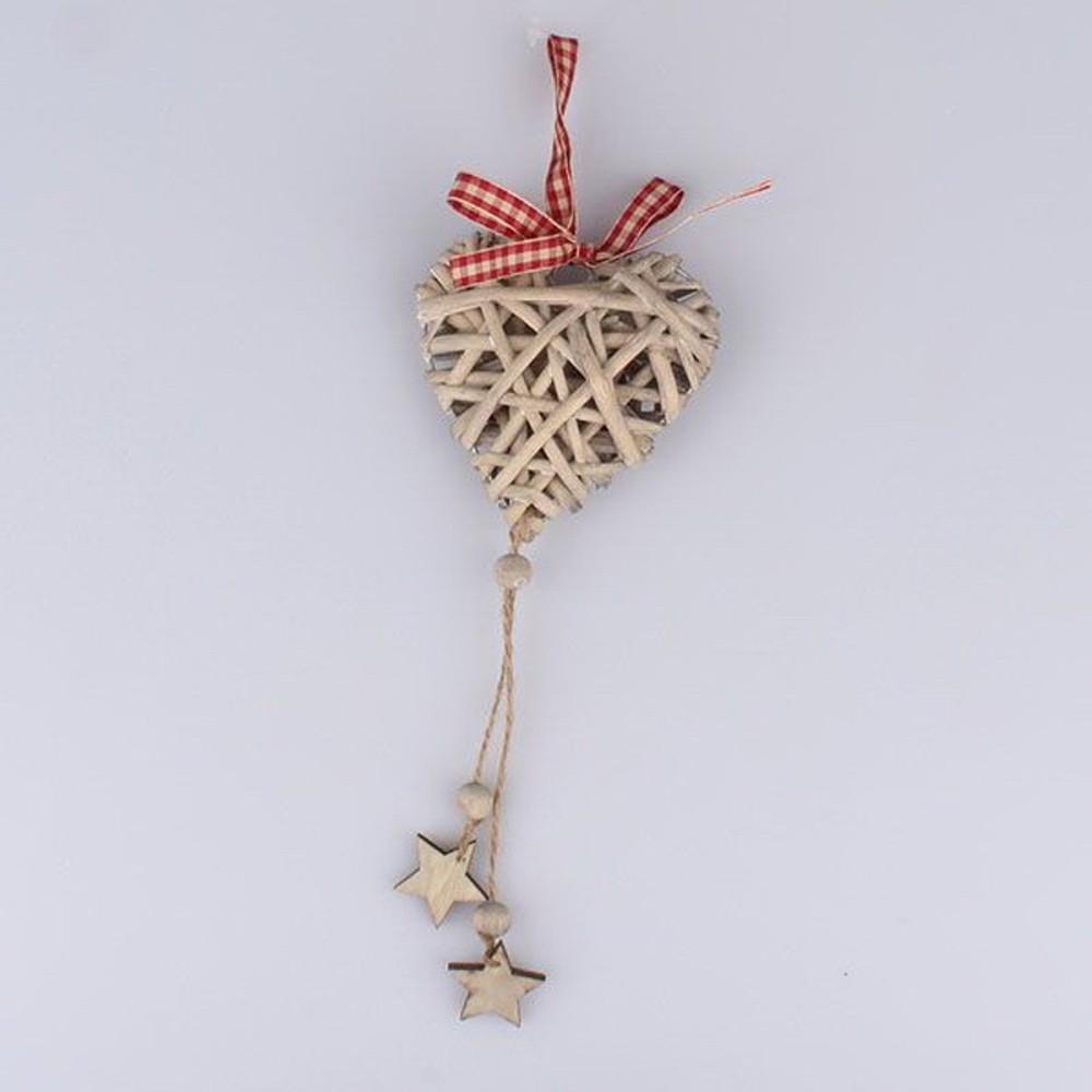 Ratanové závesné dekoratívne srdce Dakls Stars