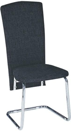 Jedálenská stolička, ekokoža čierna/chróm, JULY