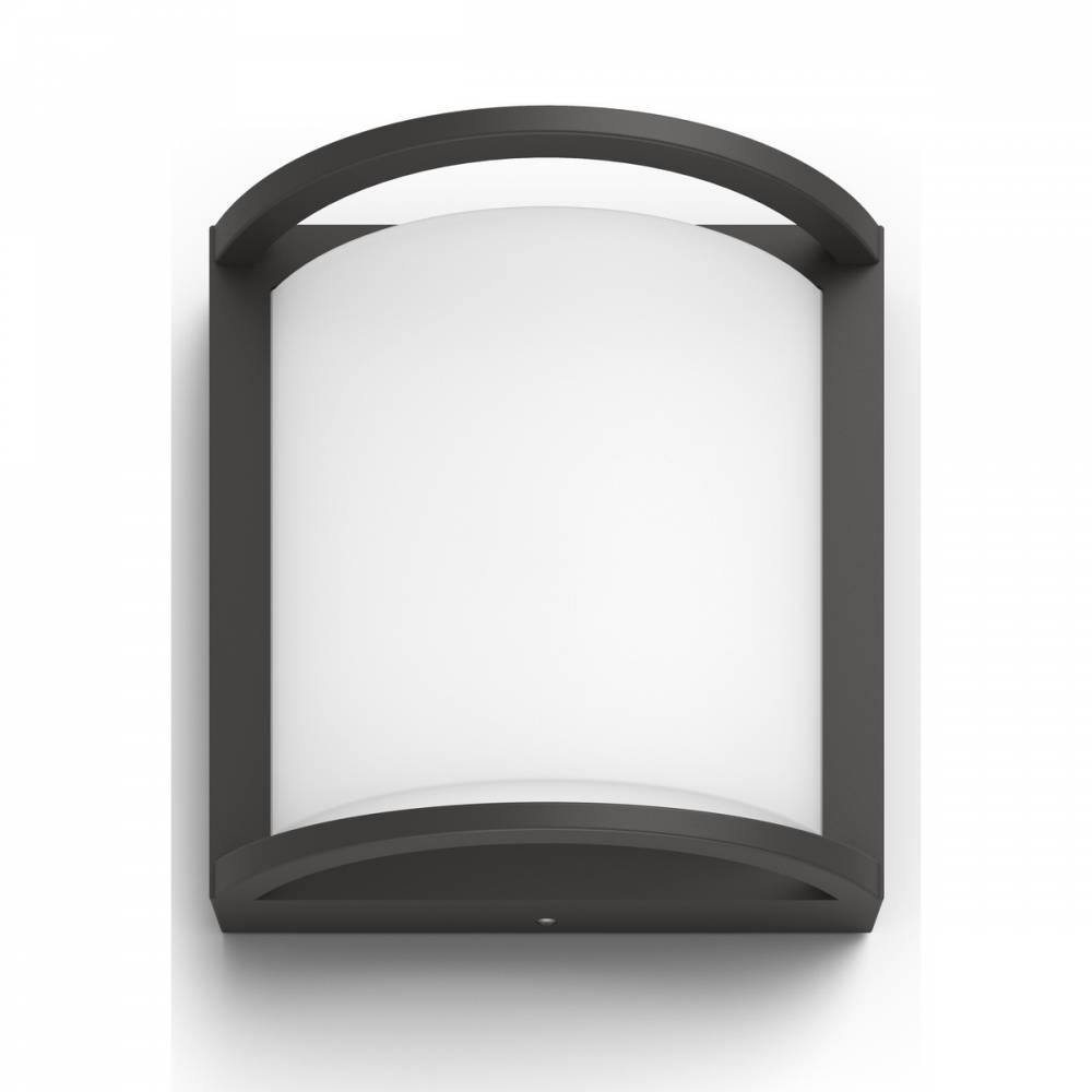 Philips 17391/93/P0 Samondra Vonkajšie nástenné LED svietidlo 19 cm, antracit