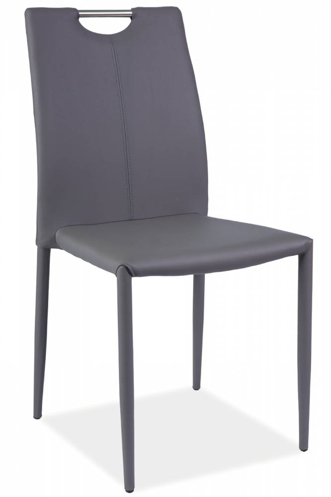 Jedálenská stolička H-322 (ekokoža sivá)