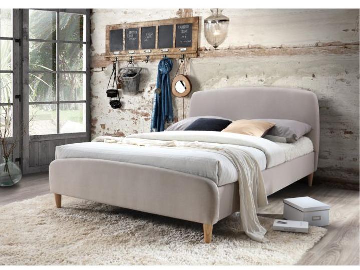 Manželská posteľ 180 cm Rupa (s roštom) (béžová + buk)