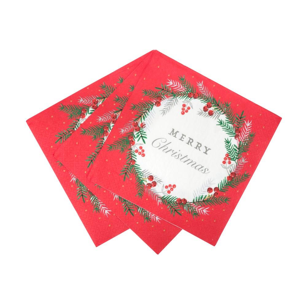 Sada 20 papierových utierok Talking Tables Berry, 33 x 33 cm