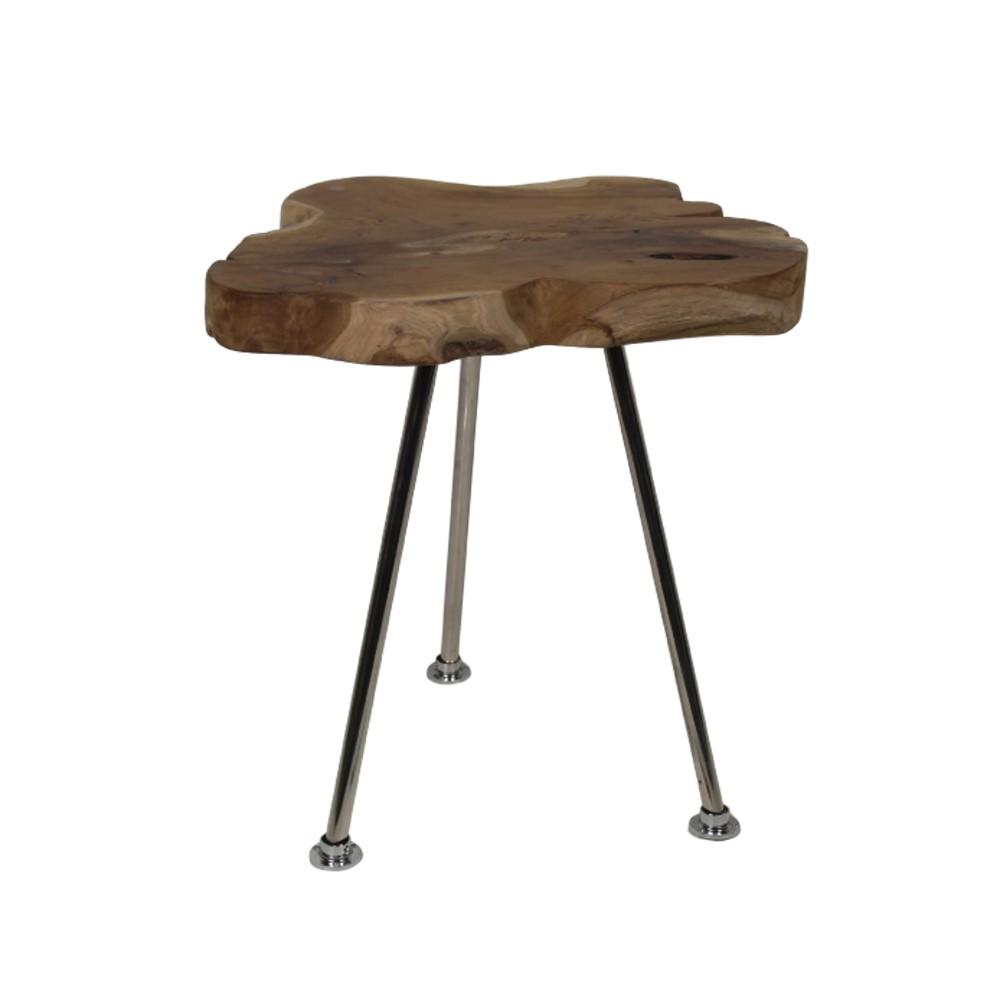 Odkladací stolík z teakového dreva HSM Collection Tribe, 40 x 55 cm