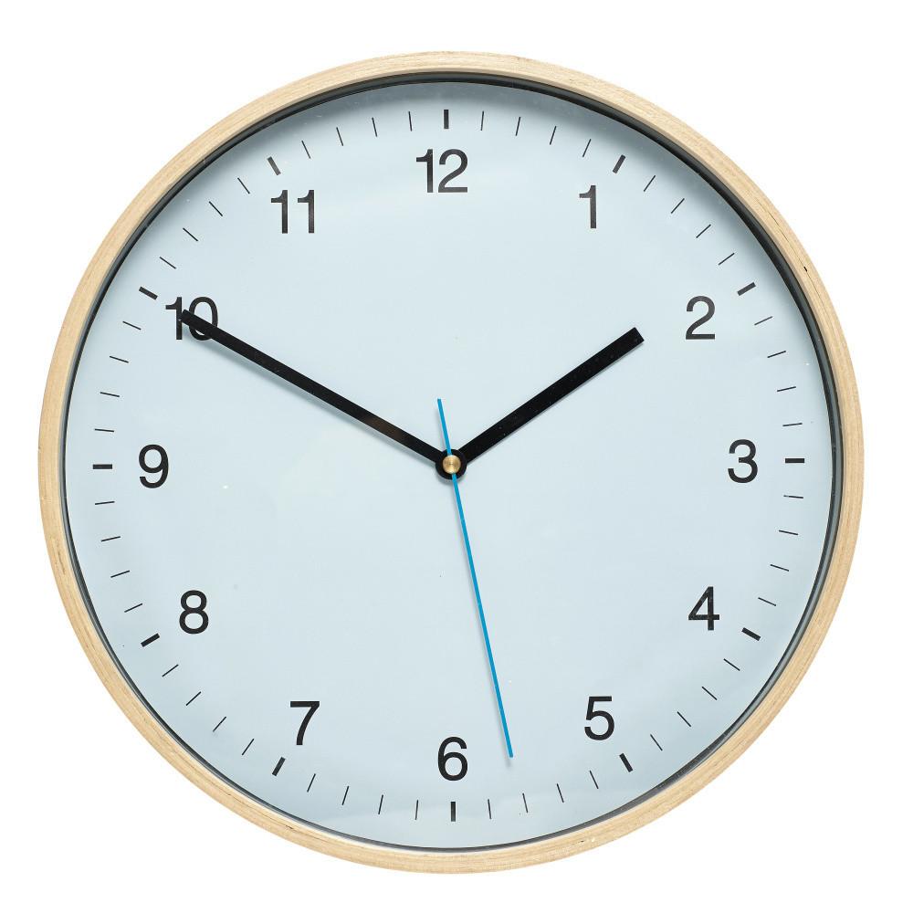 Modré nástenné hodiny Hübsch Bell