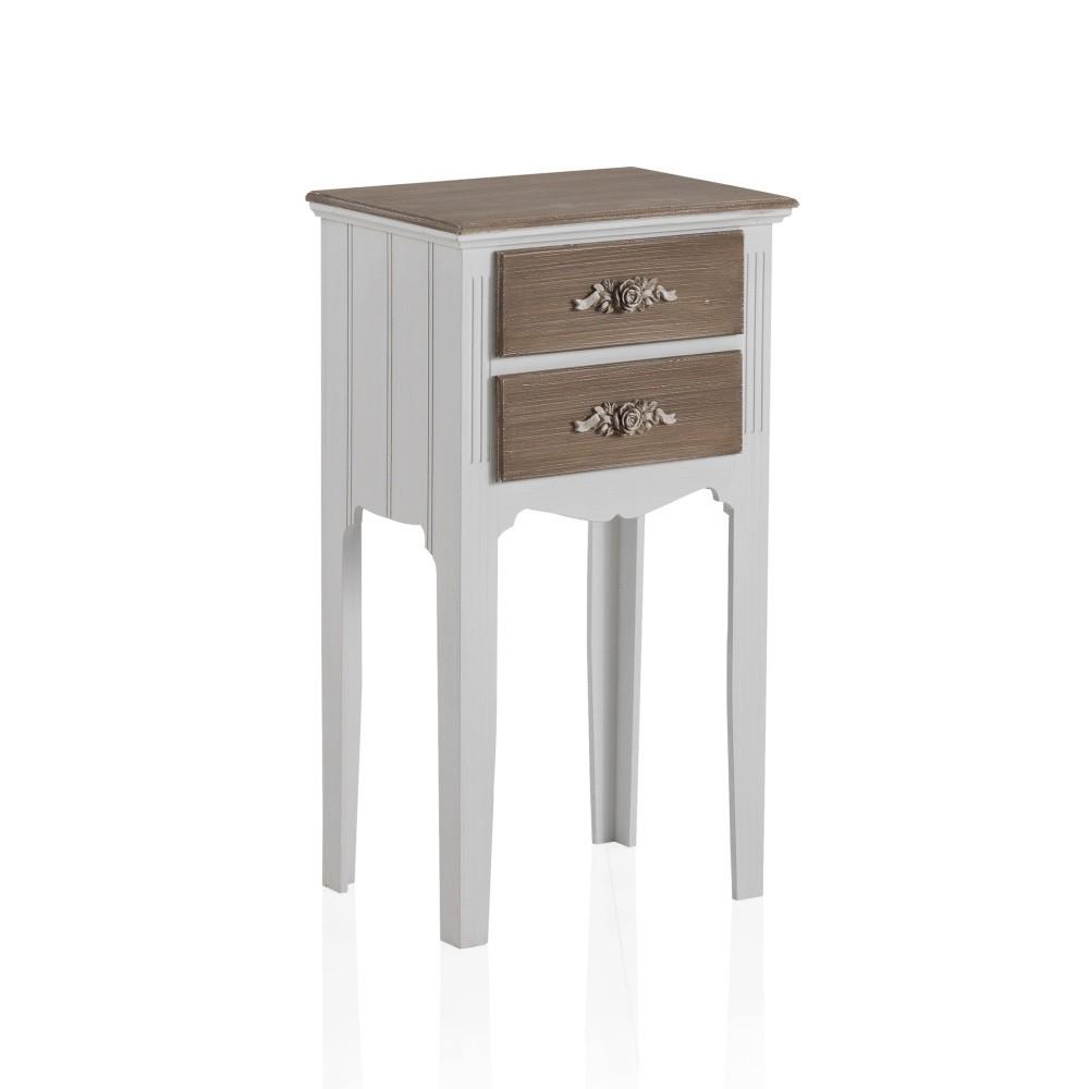 Odkladací stolík s 2 zásuvkami Geese Anna