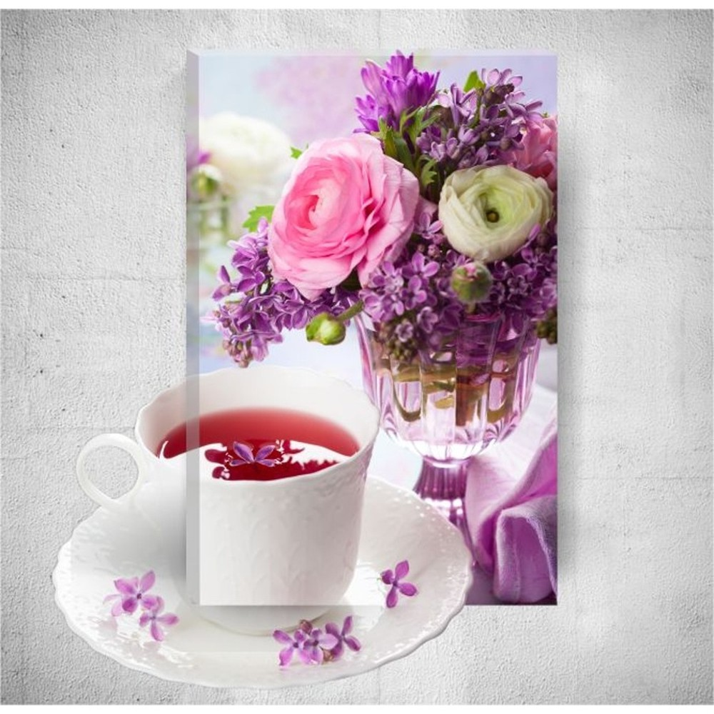 Nástenný 3D obraz Mosticx Romantic Tea Time, 40×60 cm