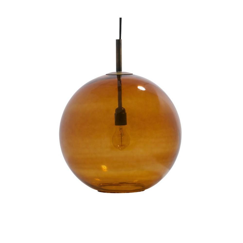 Hnedé závesné svietidlo De Eekhoorn Creative, ⌀40cm