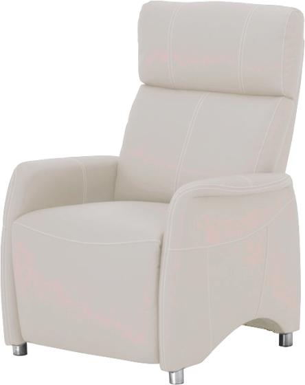 Relaxačné kreslo, textilná koža biela, FOREST