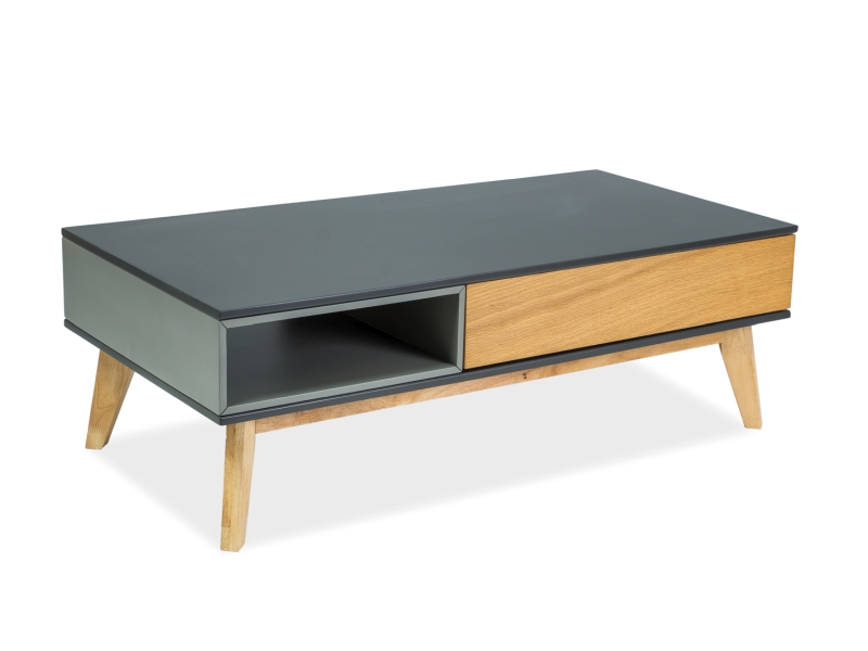 MORA konferenčný stolík 120x60 cm, dub/grafit
