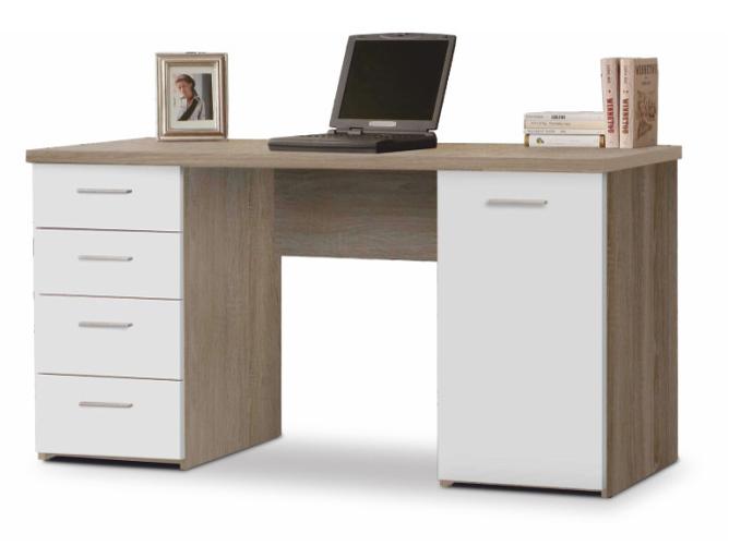 PC stolík Eustach (dub sonoma + biela)