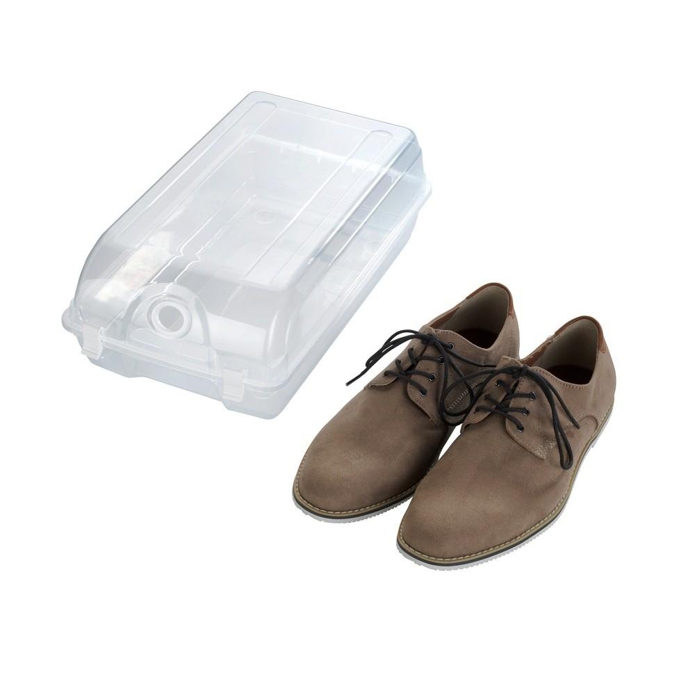 Transparentné úložný box na topánky Wenko Smart, šírka 21 cm