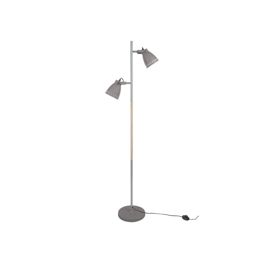 Sivá voľne stojacia lampa Leitmotiv Mingle