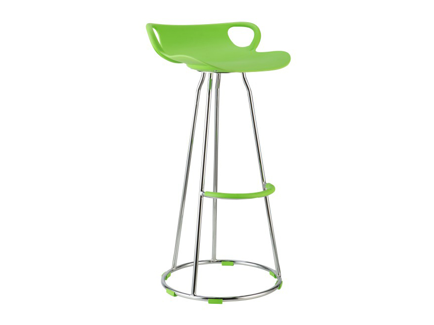 Barová stolička Gladi (zelená + chróm)