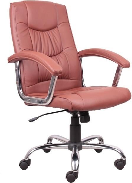 Kancelárske kreslo, ekokoža PU svetlo hnedá, LIONEL 1658LC