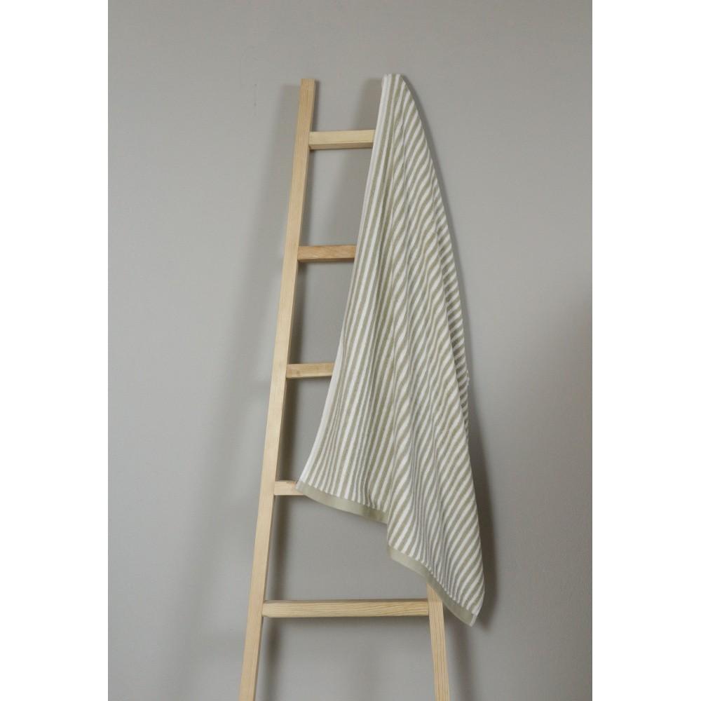 Olivovozelený bavlnený uterák My Home Plus Bath, 75×135 cm
