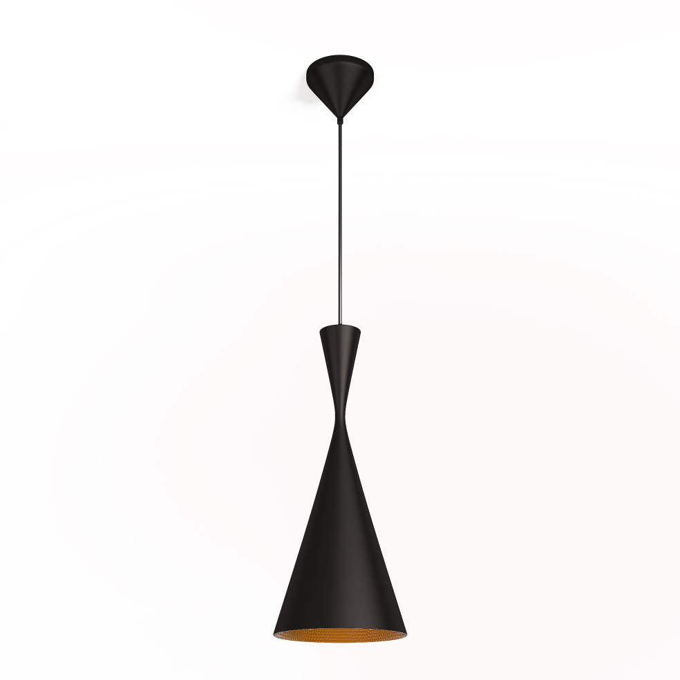 Čierne stropné svietidlo Brora
