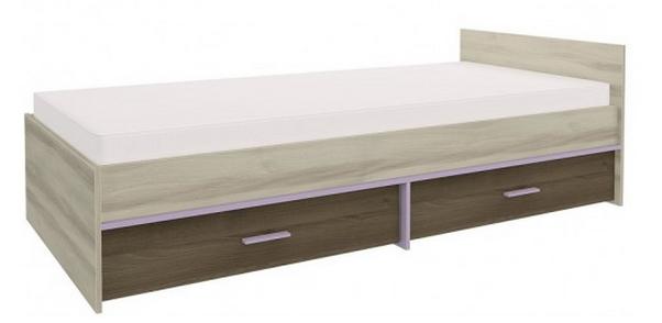 Detská posteľ GEOMETRIC 07 / BREST / AGÁT   Farba: Fialová