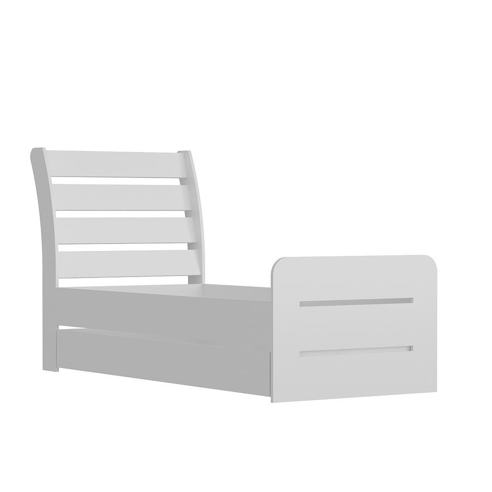 Biela jednolôžková posteľ Pata White, 104×201 cm