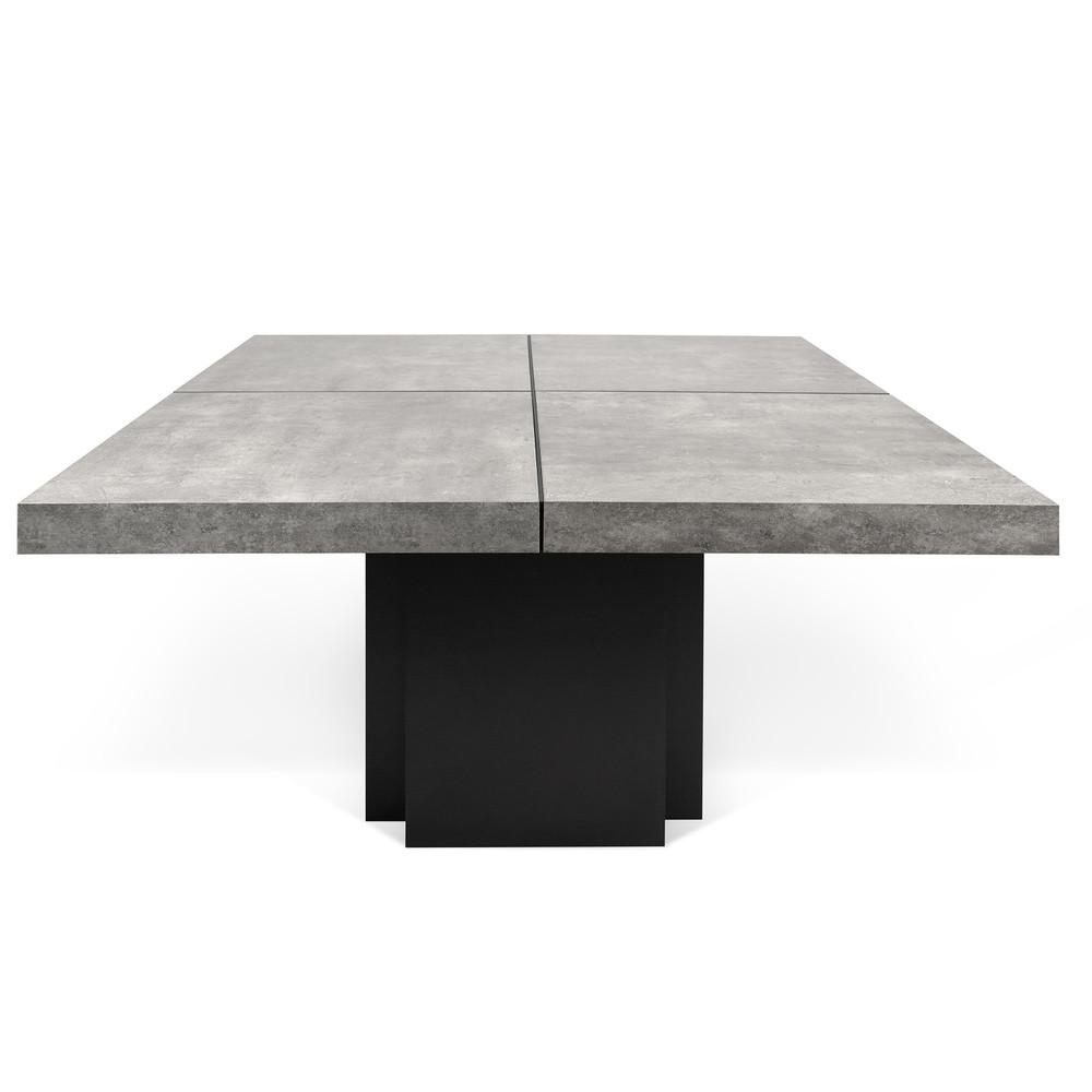 Jedálenský stôl s dekorom betónu TemaHome Dusk, 130 cm