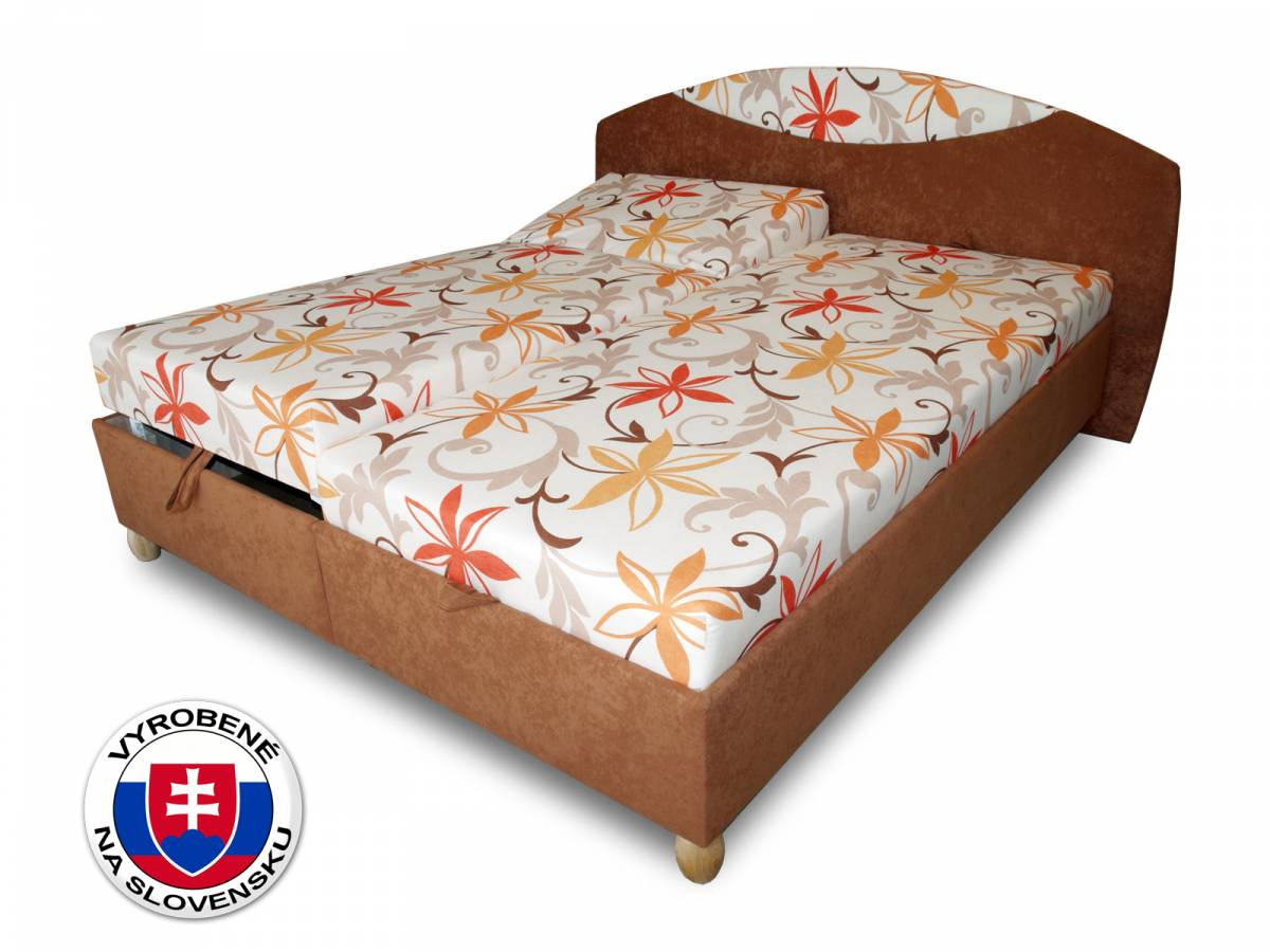 Manželská posteľ 160 cm Benab Famoza (s roštami a matracmi)