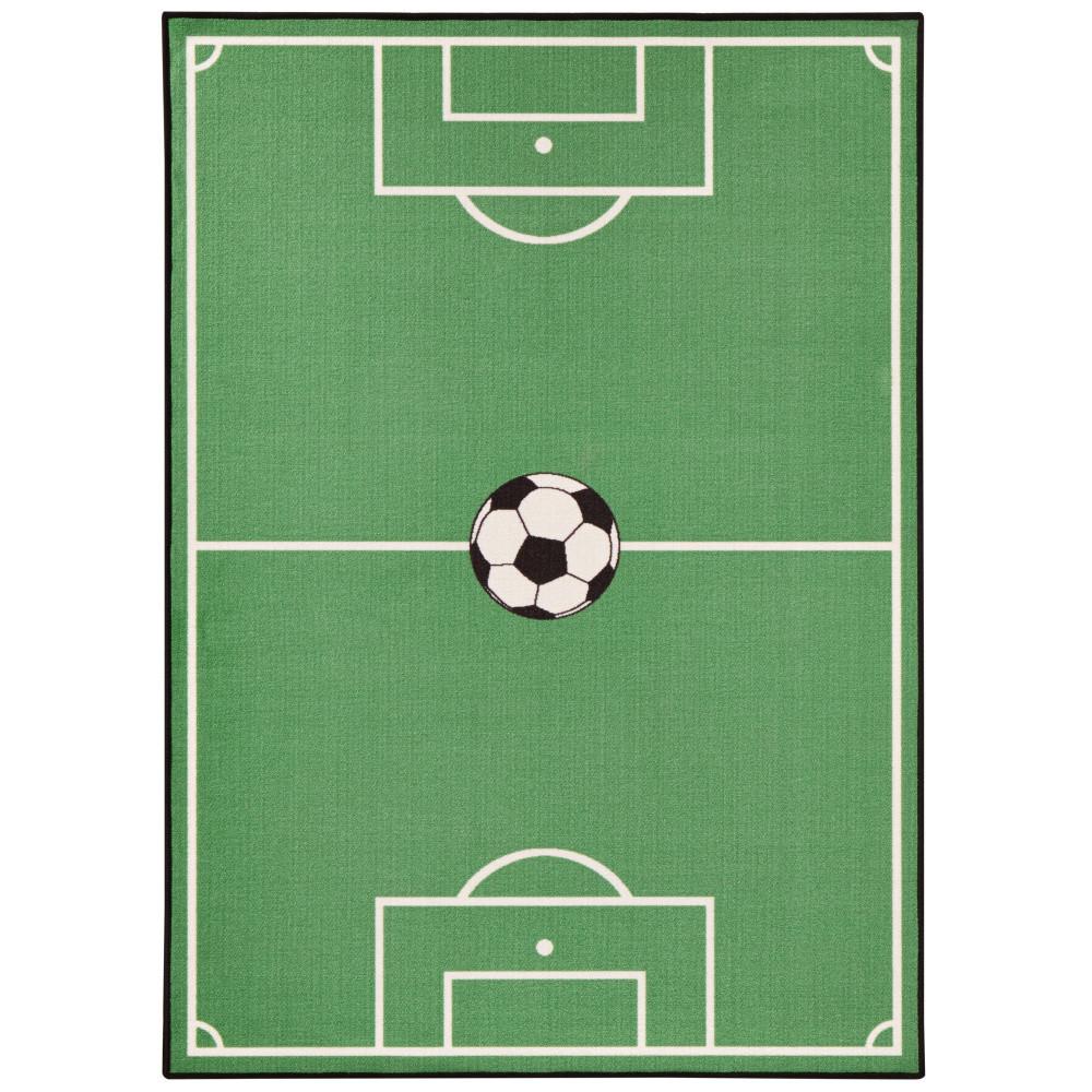 Detský zelený koberec Zala Living Luna Football, 140x200cm