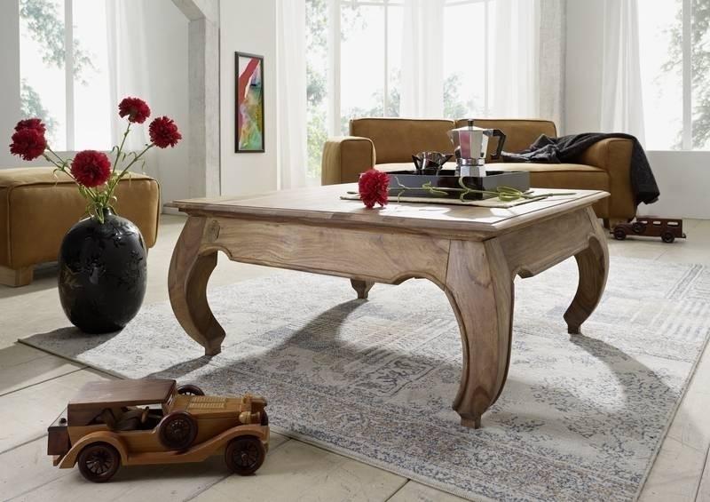 OPIUM konferenčný stolík #630 indický palisander, svetlá 60x60cm