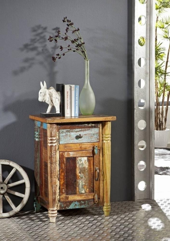 RAPUNZEL nočný stolík #03 lakované staré indické drevo