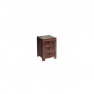 Furniture nábytok  Masívny nočný stolík s 3 zásuvkami  z Palisanderu  Mitra  50x40x60 cm