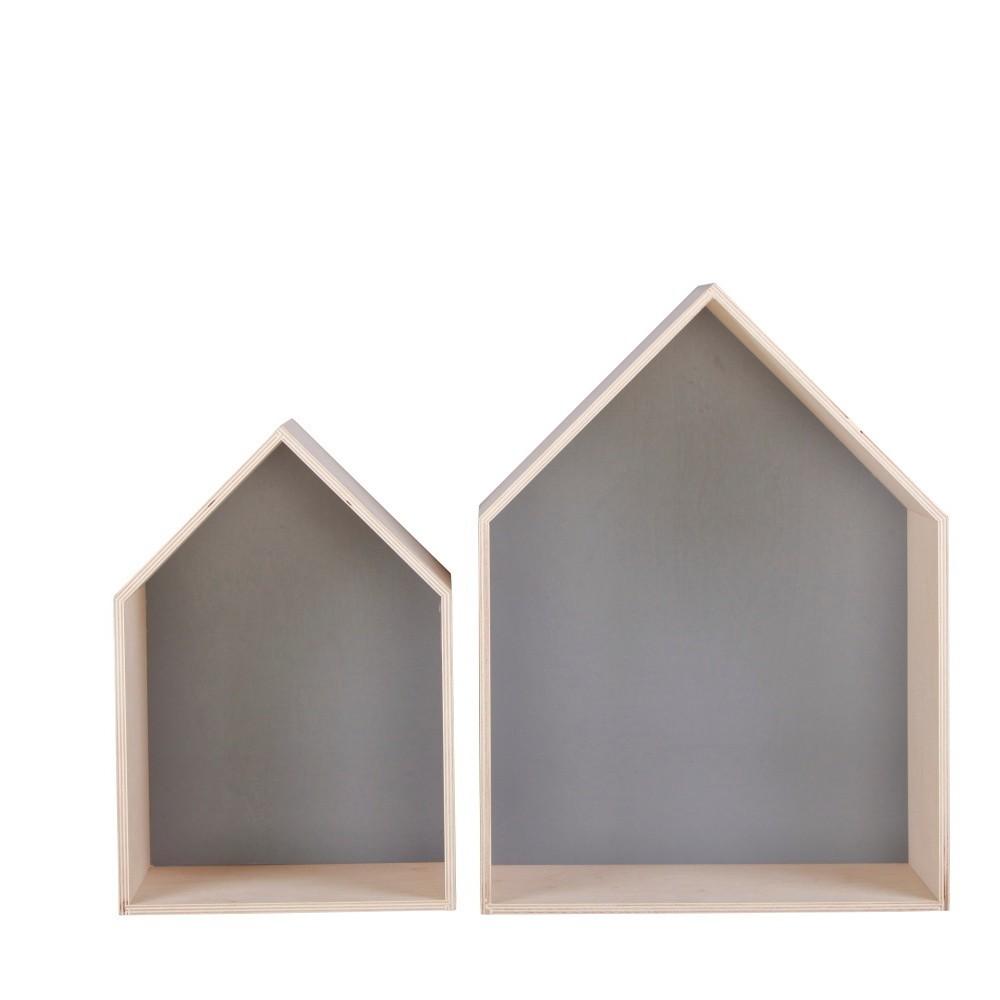 Sada 2 sivých poličiek Nørdifra House