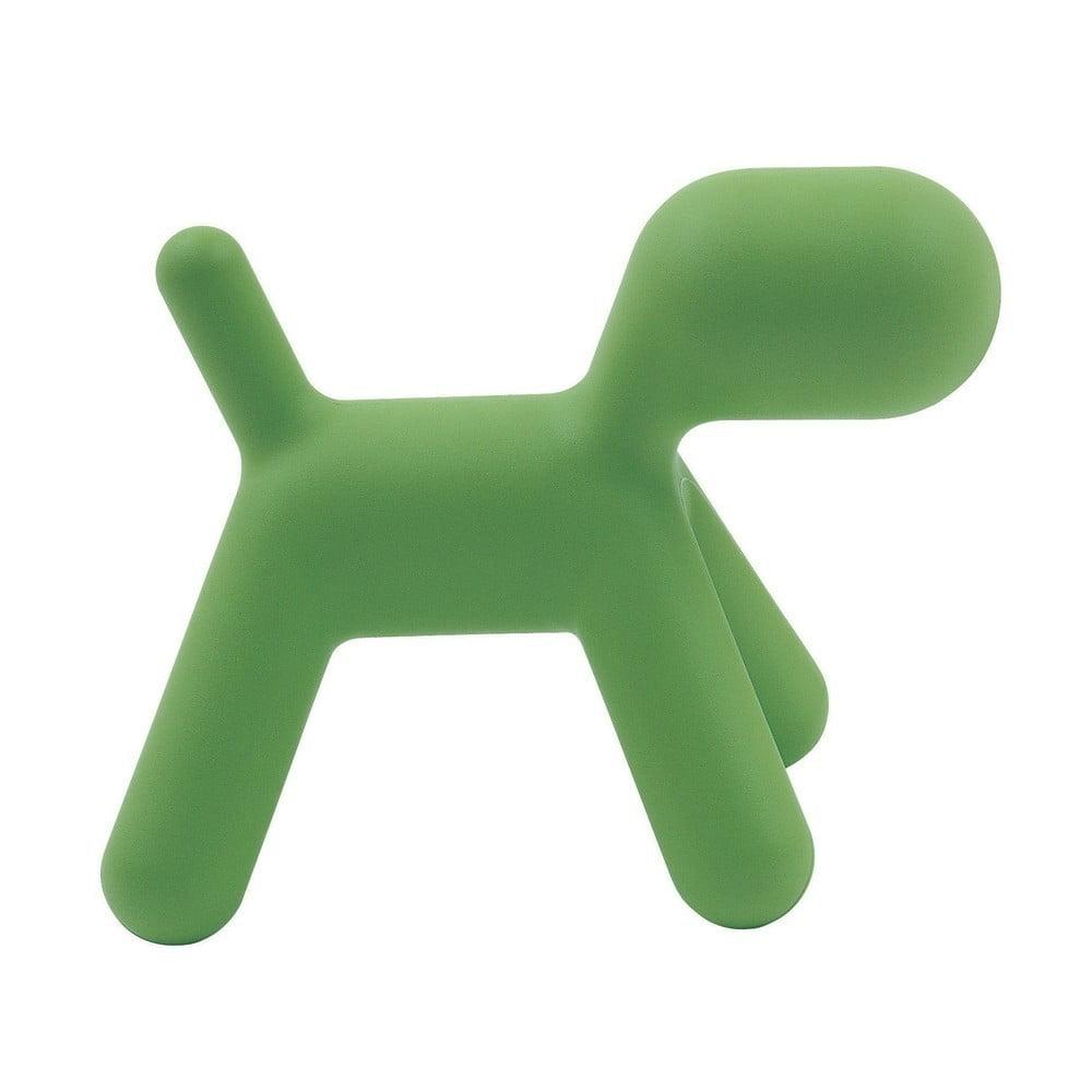 Zelená detská stolička v tvare psa Magis Puppy, výška 45 cm