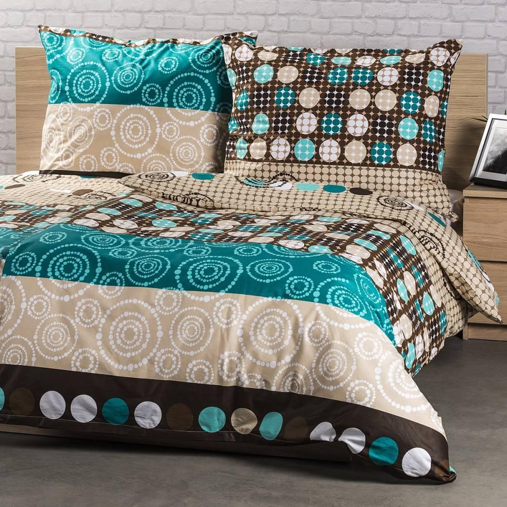 Kvalitex Bavlnené obliečky Circles, 140 x 200 cm, 70 x 90 cm