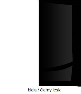 Skriňa VERIN 06   Farba: Biela / čierny lesk
