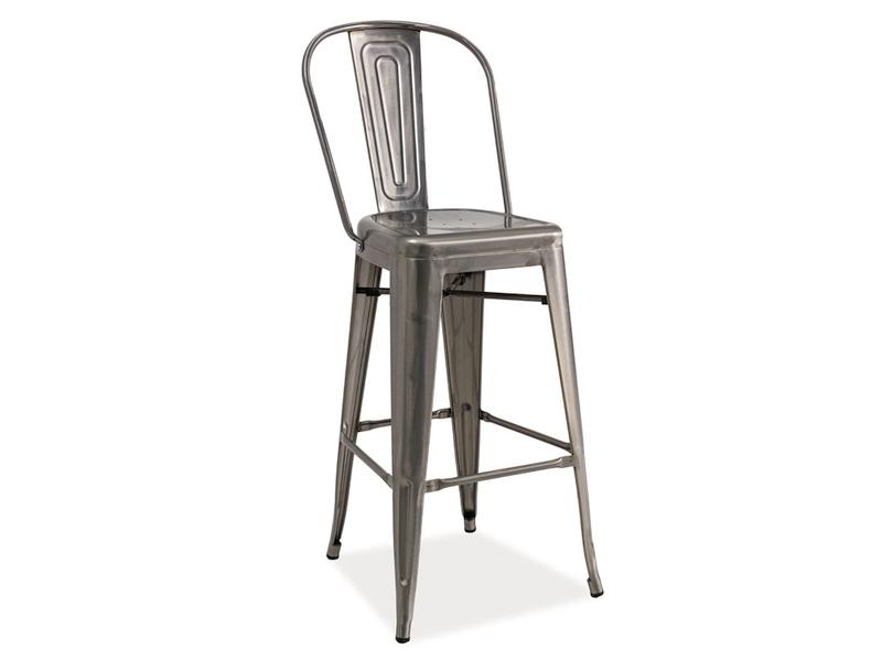 LIFT barová stolička, kartáčovaná oceľ