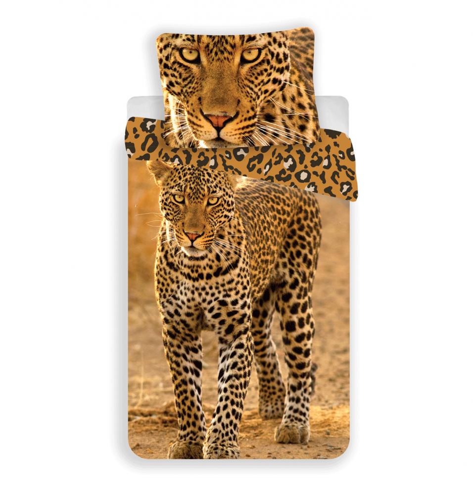 Jerry Fabrics bavlna obliečky Leopard 2017 140x200 70x90