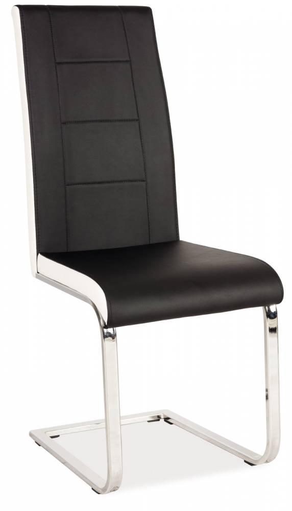 Jedálenská stolička H-629 (ekokoža čierna + biela)