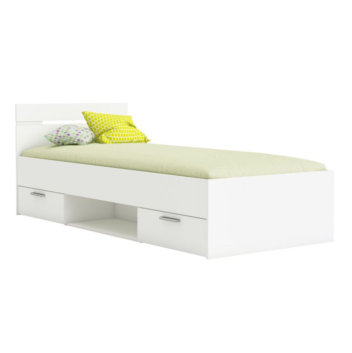 Jednolôžková posteľ 90 cm Michigan (biela)