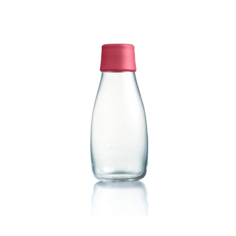 Malinovoružová sklenená fľaša ReTap s doživotnou zárukou, 300ml