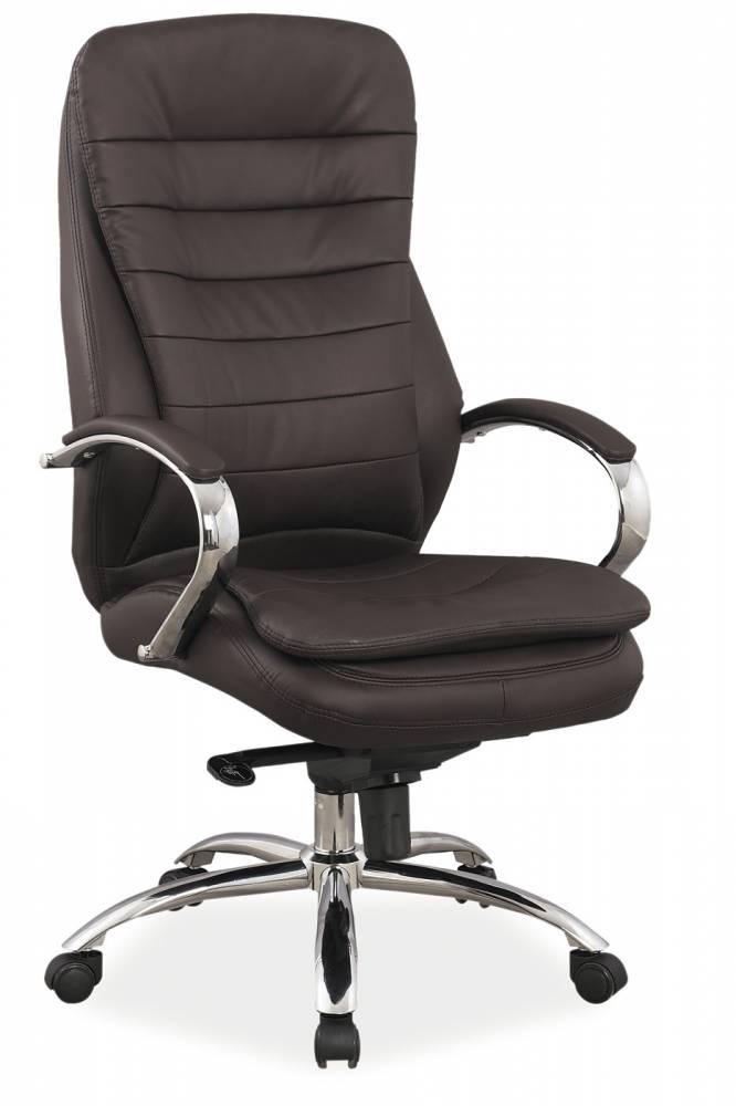 Kancelárske kreslo Q-154 (ekokoža hnedá)