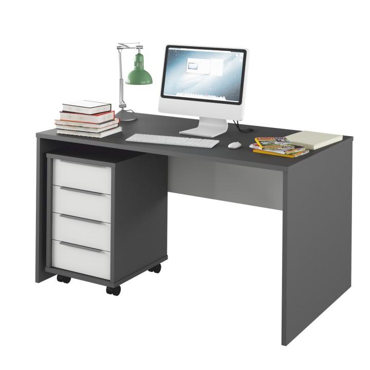 PC stolík Rioma TYP11 (grafit + biela)