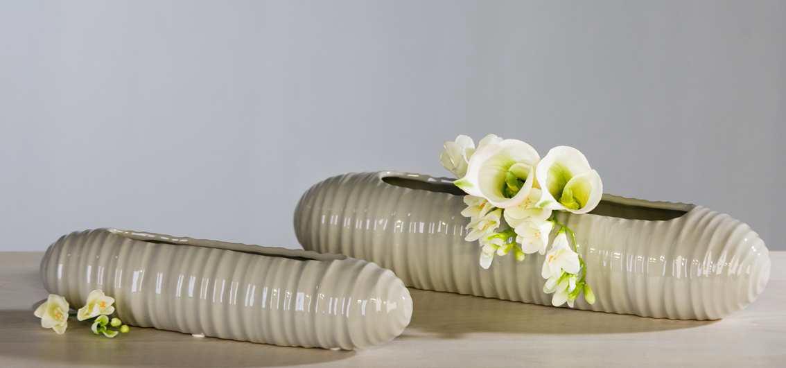 Kvetináč AMIRA veľký - sivá