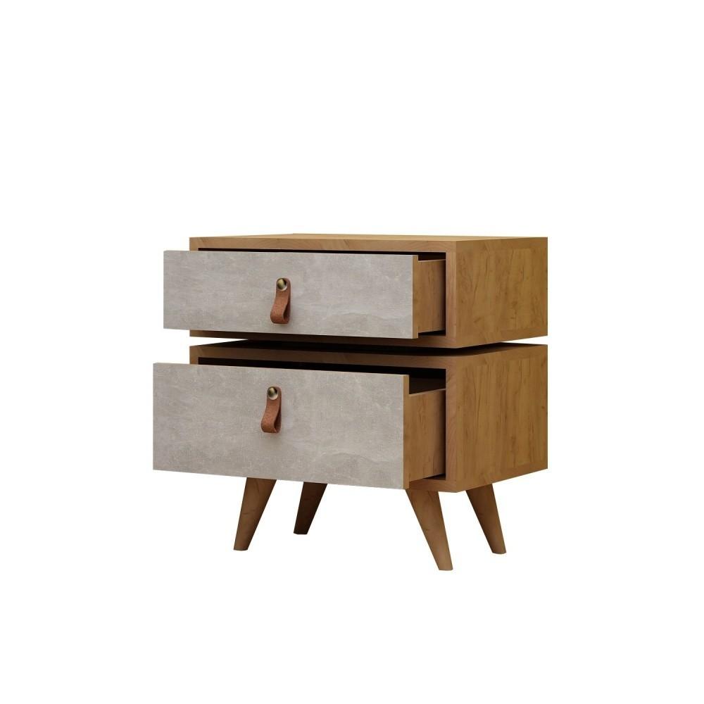 Nočný stolík s 2 zásuvkami Olenj